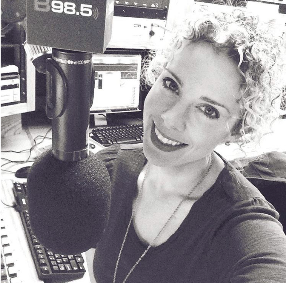 Black and White photo of Heidi at B98.5
