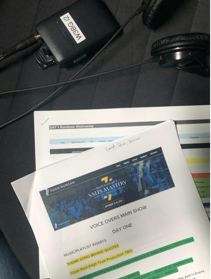 script for live announcer gig